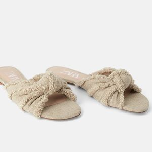 Zara Frayed Knotted Sandals